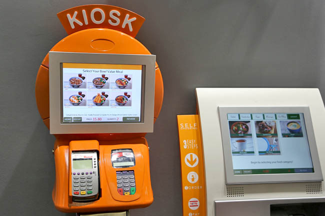 restaurants self order kiosk Singapore
